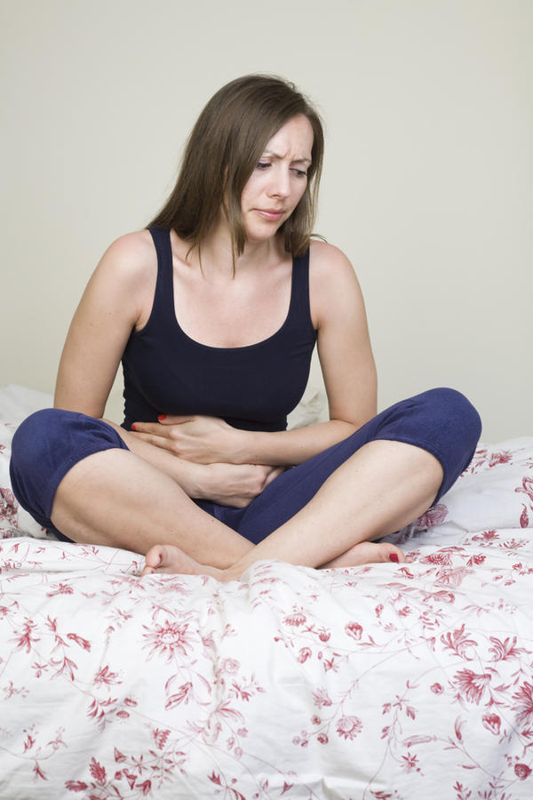 I am experiencing  cramping pelvic pain, bloating or abdominal fullness and low back pain. Had period April 08?