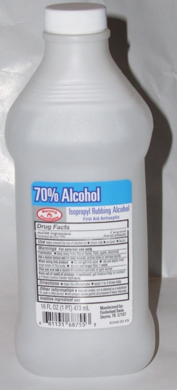 What side effects are commonly associated with drinking isopropyl alcohol?
