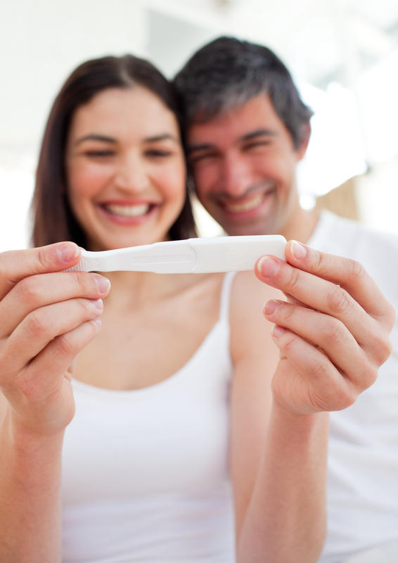 What does a faint positive sign mean on a pregnancy test?