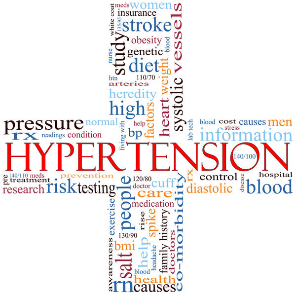 My husband has high blood pressure & had severe pain in the top of his head when bending over. Later he had profuse sweating & vomited blood.