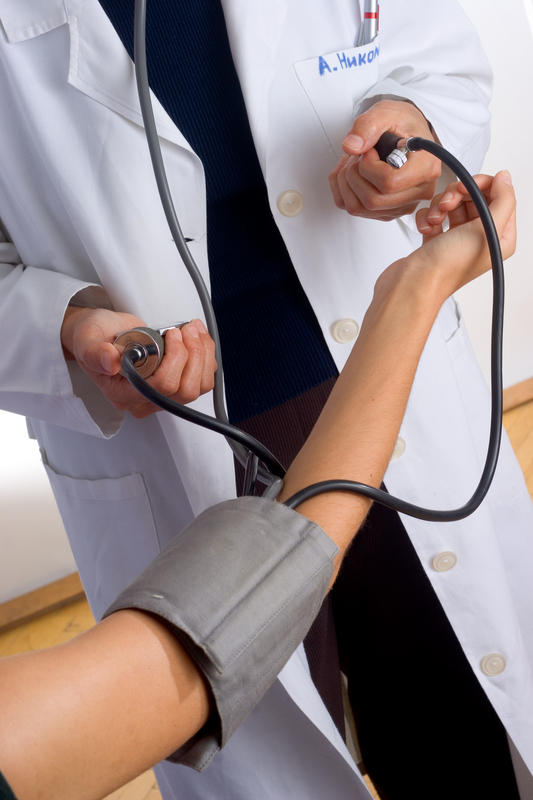 If you have high blood pressure and you have your blood drawn, will your blood pressure be lower immediately after some is taken out?