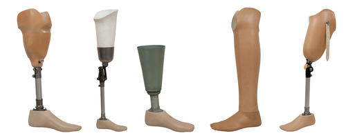 What usually happens the prosthetic limbs and implants after death?