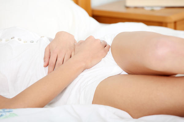 Can any ovarian cyst fall through your belly?