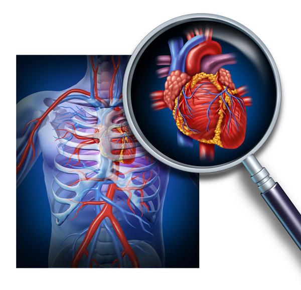 When traveling through the heart and blood vessels where is the blood high in oxygen?