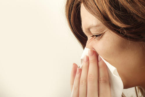 Can eczema be a red spot on your nose?