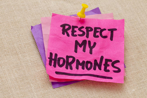 Are estrone, estradiol, progesterone and androstenedione all male or female hormones?
