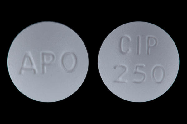 What probiotic pill may I take with my Cipro (ciprofloxacin) antibiotic?