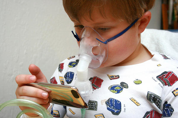Is there a risk in using expired albuterol in a nebulizer for asthma?