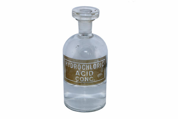 What do hydrochloric acid and pepsin do?