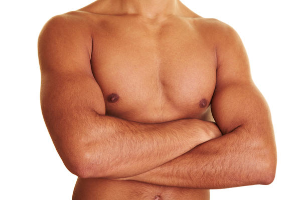 What can be done to treat male breast enlargement?