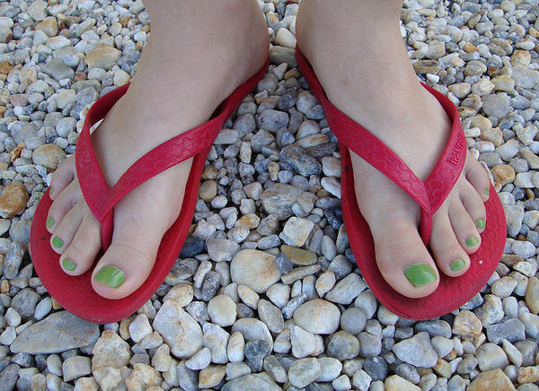 How can you treat dark toenails?