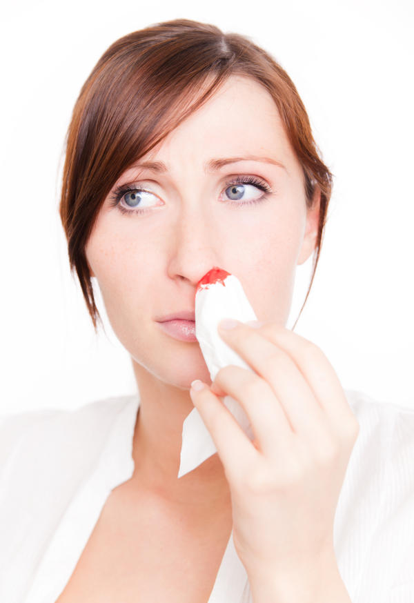 Each year, i get very frequent bloody noses during the winter (2x a week). What can I do to stop them? Vitamin k supplements? Saline spray?