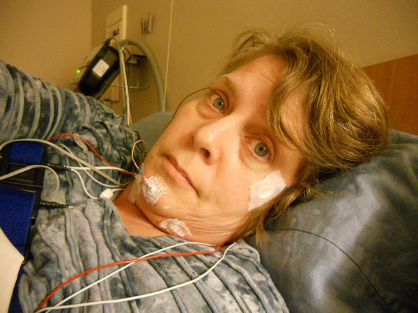 What should you do when your husband has been diagnosed with sleep apnea and won't use the machine?