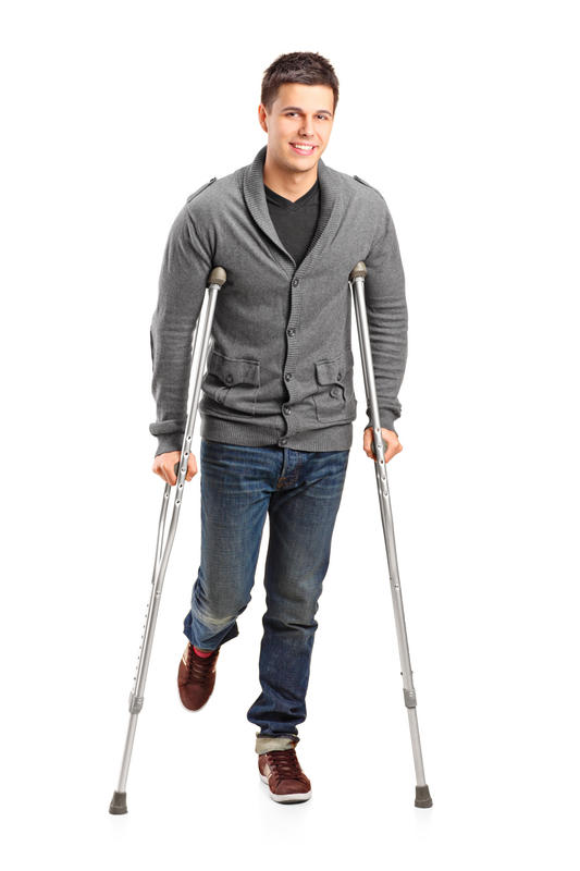 Would I need crutches if I have a bad hamstring and quad injury?