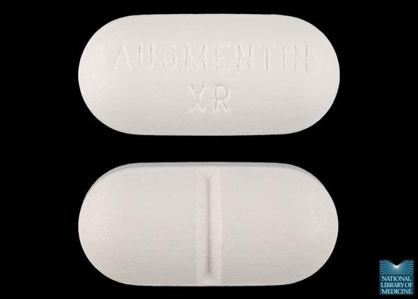 Can augmentin (amoxicillin and clavulanate) cause heartburn?