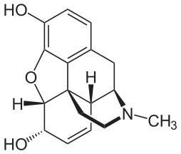 Does morphine mix with talacen (pentazocine and acetaminophen)?