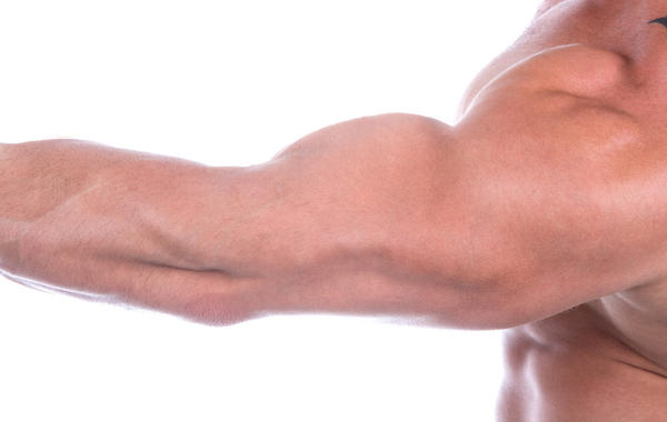 What to do if I have a strained muscle in my arm?