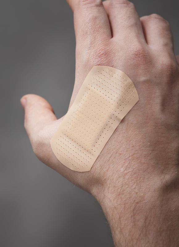 What is the definition or description of: hand laceration?