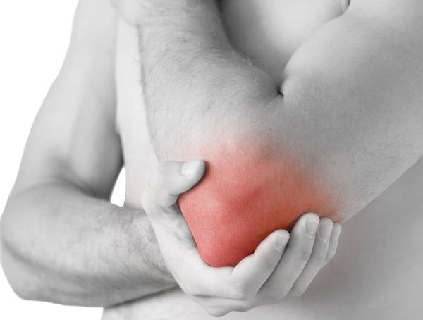 What is causing pain in my elbow; where my joints are? It hurts when i lift heavy stuff.