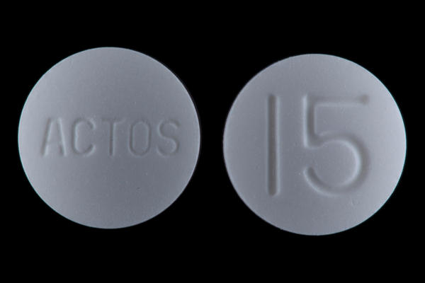 How should one take actos (pioglitazone) 15mg and lisinopril 10mg?