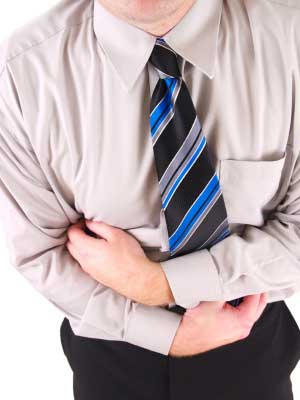 Can a injured back lead to digestive problems?