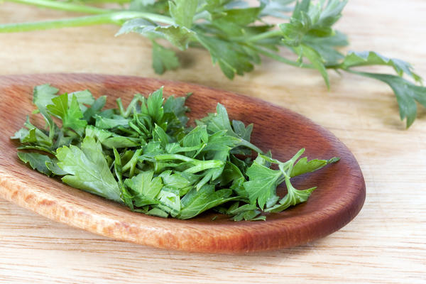 Is handling or eating parsley during pregnancy good or bad?