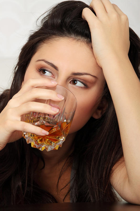 Does a person's temp. Go up or down with alcohol consumption?